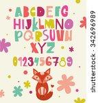 abc for kids | Shutterstock .eps vector #342696989