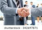 business handshake and business ... | Shutterstock . vector #342697871