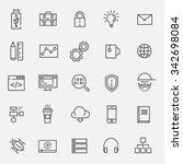 code  programming icon | Shutterstock .eps vector #342698084