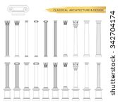 classical architectural columns ... | Shutterstock .eps vector #342704174