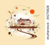 old house  urban art | Shutterstock .eps vector #34270828