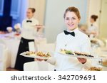 waitress occupation. young... | Shutterstock . vector #342709691