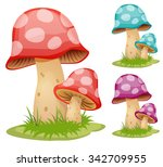 mushrooms | Shutterstock .eps vector #342709955