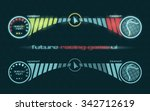 vector futuristic interface of