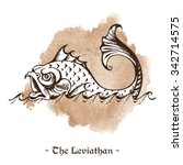 the leviathan. legendary sea... | Shutterstock .eps vector #342714575