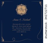 invitation card with monogram... | Shutterstock .eps vector #342722711