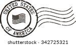 black postal grunge stamp ... | Shutterstock .eps vector #342725321
