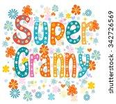 super granny  cartoon old lady... | Shutterstock .eps vector #342726569