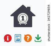 best home. first place award...   Shutterstock .eps vector #342729854