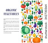 vegetables background in flat... | Shutterstock . vector #342730364