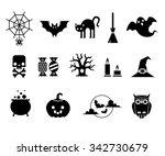 set of black color vector...