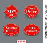 set of red sale retro labels.... | Shutterstock . vector #342732209
