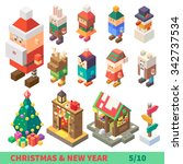 christmas and new year...   Shutterstock .eps vector #342737534