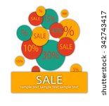 sale discount banner with... | Shutterstock .eps vector #342743417