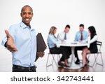 african american businessman...   Shutterstock . vector #342743441
