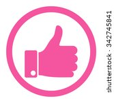 thumb up vector icon. style is... | Shutterstock .eps vector #342745841