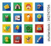 circus and fairground icons... | Shutterstock .eps vector #342747704