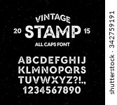 vector vintage stamp all caps... | Shutterstock .eps vector #342759191