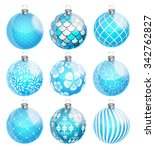 new year and christmas balls... | Shutterstock . vector #342762827