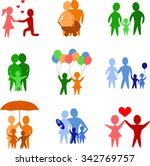 set of colorful family...   Shutterstock .eps vector #342769757