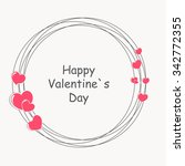 happy valentines day card.... | Shutterstock . vector #342772355