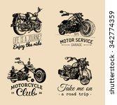 vector motorcycles... | Shutterstock .eps vector #342774359