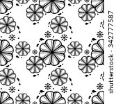 black and white seamless... | Shutterstock .eps vector #342777587