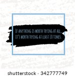 colorful motivational poster... | Shutterstock . vector #342777749