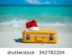 christmas beach holidays in the ... | Shutterstock . vector #342782204