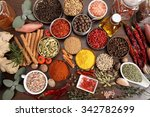 flavorful  colorful spices in... | Shutterstock . vector #342782699