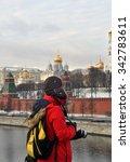 moscow   nov 23  a foriner... | Shutterstock . vector #342783611
