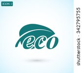 ecology icon. vector  eps 10  | Shutterstock .eps vector #342795755