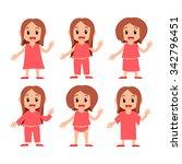 little girl   Shutterstock .eps vector #342796451