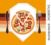 menu concept with food  icons... | Shutterstock .eps vector #342800741