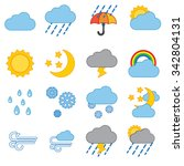 weather icon set modern trendy  ... | Shutterstock .eps vector #342804131