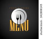 restaurant menu design ... | Shutterstock .eps vector #342808145