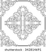 vintage baroque frame scroll... | Shutterstock .eps vector #342814691