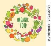 vegetarian and vegan  vegan... | Shutterstock .eps vector #342816494