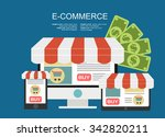e commerce. business concept. | Shutterstock .eps vector #342820211