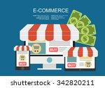 e commerce. business concept. | Shutterstock .eps vector #342820211