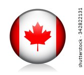 canada glossy icon | Shutterstock .eps vector #342822131