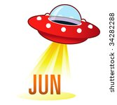 June Month Calendar Icon On...