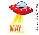 May Calendar Month Icon On...