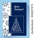 greeting christmas card with... | Shutterstock .eps vector #342827471