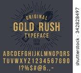 vector handmade font. vintage... | Shutterstock .eps vector #342828497