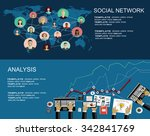 global social network abstract... | Shutterstock .eps vector #342841769