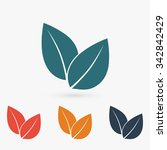 leaf icon  vector illustration. ... | Shutterstock .eps vector #342842429