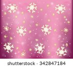 snowflakes  winter frosty snow... | Shutterstock .eps vector #342847184
