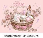 Rose Natural Cosmetic Basket....