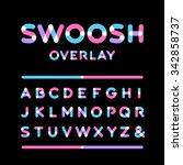 rounded font. vector alphabet... | Shutterstock .eps vector #342858737